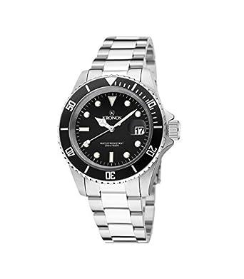 Kronos - Sport Q 200MTS Black 977.8.55 - Reloj Diver de caballero de cuarzo - brazalete de acero - color esfera: negra