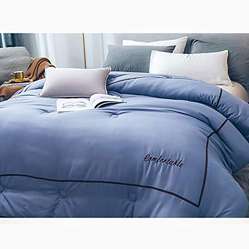 寝具キルトコンフォーターデベットコントラストカラーリボン低アレルギー、ボックスステッチダウンオルタネーターコンフォーターキングサイズ B07K9ZPKHN B 220*240cm*4kg