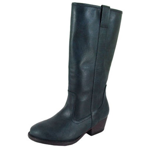 Qupid TREVOR-02 Womens Western Knee High Boots Size:7 Color:BLUE