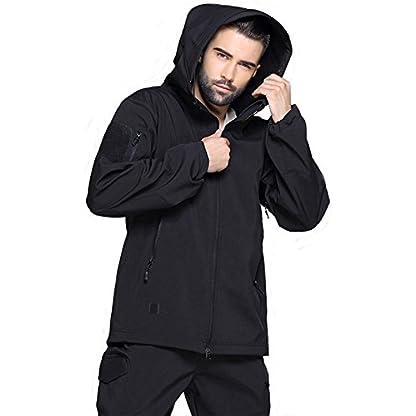 TACVASEN Military Waterproof Men's Softshell Jacket Fleece Lining Camouflage Outdoor Coat 2
