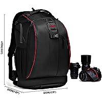 Caden Professional Anti-Theft Waterproof Shockproof DSLR SLR Camera Backpack Bag Case Dividers Insert for Canon Nikon Sony Olympus Panasonic Pentax Kodah For Men With tripod Holder(Large)