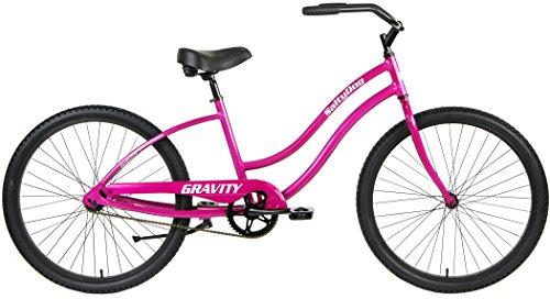 Salty Dog Gravity ALUMINUM Beach Cruiser Single Speed Bicycle (Pink, Ladies) Review