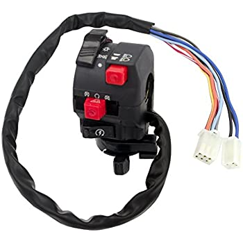 royitay 5-function 9 wire chinese atv mini quad left side control switch  assembly kill