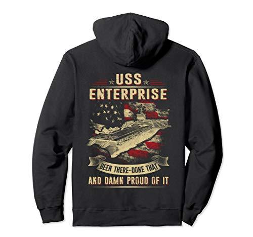 - Navy USS Enterprise (CVN-65) Pullover Hoodie