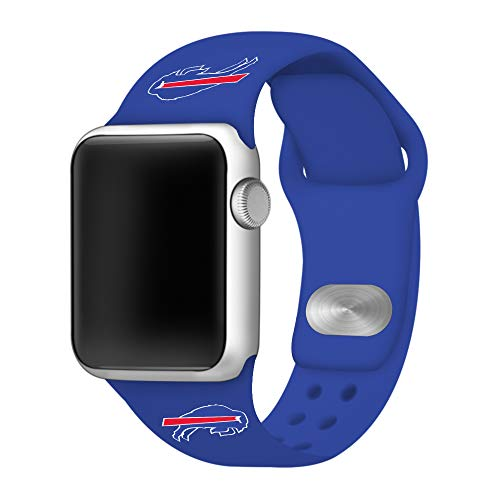 Game Time Buffalo Bills Blue Silicone Sport Band Compatible with Apple Watch - Band ONLY (42mm/44mm)