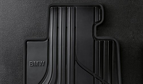 BMW Rear All Weather Basic Line Floor Mats (Black) (Floor Mats Rear Black Bmw)