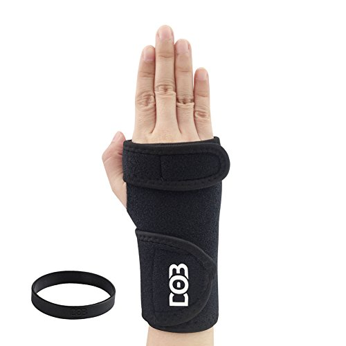 Removable Splint (DOB Fitted Wrist Brace, Wrist Support with Removable Splint and Adjustable Strap for Carpal Tunnel (Right))