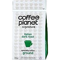 Coffee Planet Signature Italian Dark Roast Ground Coffee Bag 250 g