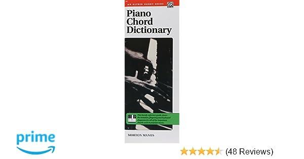 Piano Chord Dictionary Handy Guide Morton Manus 9780882841540