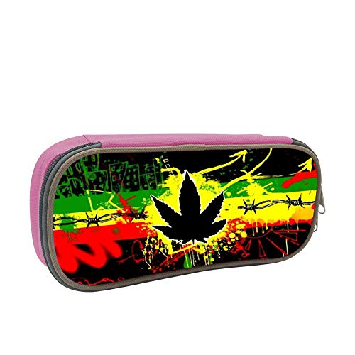 SsSEYYA Mary Jane Weed Trippy Pencil Bag Makeup Pen Pencil Case Big Capacity Pouch Durable Students Stationery with Double Zipper Pen Holder for School/Office (B&e Sonnenbrille)