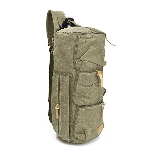 mefly la nueva Lienzo Satchel Bag Satchel Outdoor Hombre Impacto de instrumentos, caqui verde militar