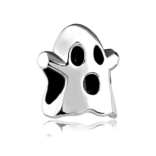 Q&Charms Halloween Ghost Charm Sale Cheap European Bead Fit Pandora Chamilia Charms Bracelet
