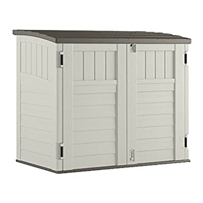 Suncast Storage Shed Outdoor Patio Garden Shed Pal Utility Organization Horizontal Resin Building