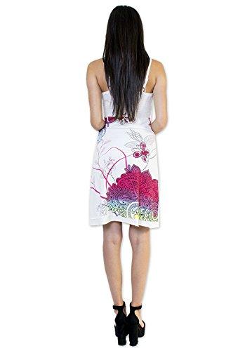 Coton Du Monde-vestido de princesa color blanco Multicolor