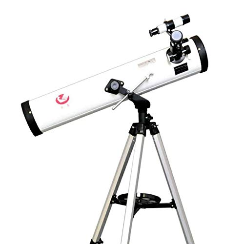 RYRYBH Stylish, Light and Convenient Supply Zhanjing F76700 Large Caliber Telescope HD is Like Night Vision High-Powered World Dual-use Telescope (Size : F77700Silver) by RYRYBH