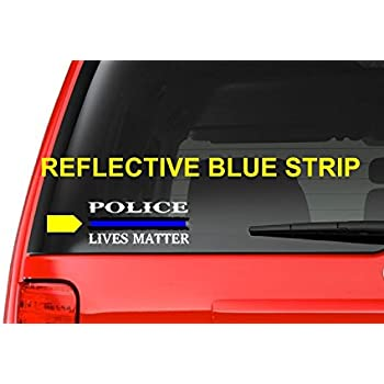 Police lives matter m17 thin blue line cop police sheriff trooper vinyl decal sticker