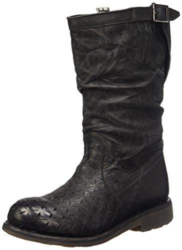 Bikkembergs Nero Leather Donna Scarpe 255 W Effect boot origami Vintage black top M Low vwxrqZvBAX