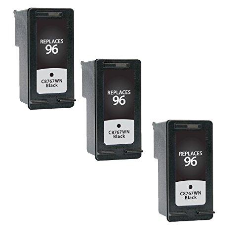 Generic Remanufactured Ink Cartridge Replacement for HP C8767WN ( Black , 3-Pack (9800 Series Printer)