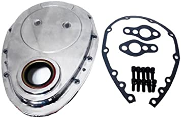 Chevy Small Block 283-305-327-350-400 Aluminum Timing Chain Cover Set Polished