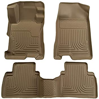 Image of Cargo Liners Husky Liners Fits 2006-09 Ford Fusion, 2007-09 Lincoln MKZ, 2006-09 Mercury Milan - Front Wheel Drive Weatherbeater Front & 2nd Seat Floor Mats