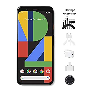 Google - Pixel 4 XL with 64GB Cell Phone (Unlocked) Clearly White Bundle W/Valued 69.99 Hesvap Mobile Phone Accessories