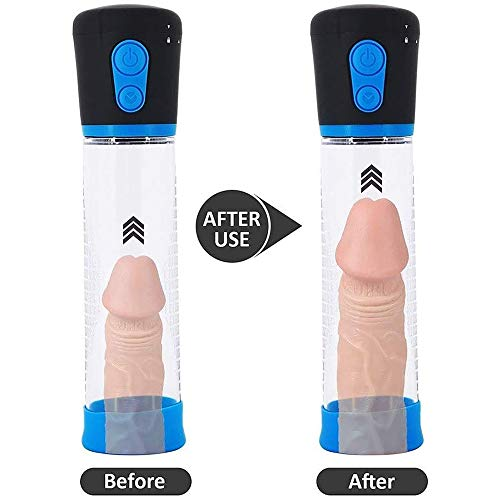 Adult Men's Electric Increased Size Training Length of Pênīs Pump Larger Extension Rod for Men Pênnis with Transparent Gas Cylinders and Pressure Gauges to Expand Treating for Erectile Dysfunction