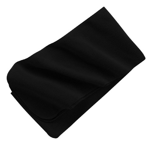 Port Authority - Extra Long Fleece Scarf, Black