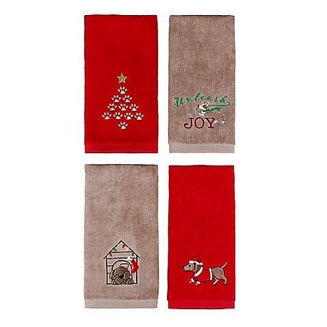 Fingertip Set (Holiday Pets Fingertip Towels (Set of 4))
