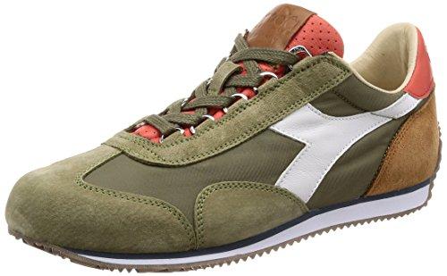 Diadora Mannen Equipe Ita Sneakers, Blauw-vleugel Wintertaling, 42 Eu C7426 - Droog Gras Groen-rode Schuur