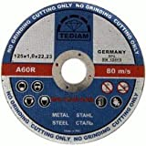 PREMIUM Pack of 10 x Ultra thin (5inch) 125mm x 1mm Angle Grinder Circular Saw- Stainless steel cuttings dics - metal cutting slitting discs