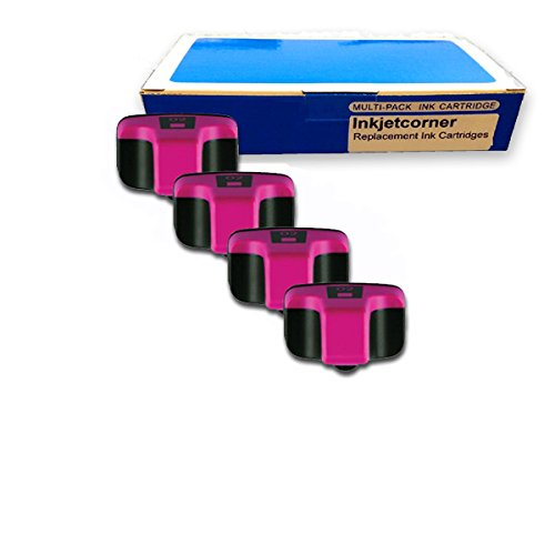 Inkjetcorner 4 Pack Magenta Remanufactured Ink Cartridge for HP No. 02M C8772WN HP Photosmart 3110 3210 3210v 3210xi 3310 3310xi C5180 C6180 C6280 C7180 C7280 C8180 D7260 D7160 D7360 D7460 8250