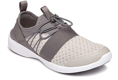 Vionic Women's Sky Alaina II Slip-on Active Sneaker - Ladies Walking Shoes with Concealed Orthotic Arch Support Grey 10 M US