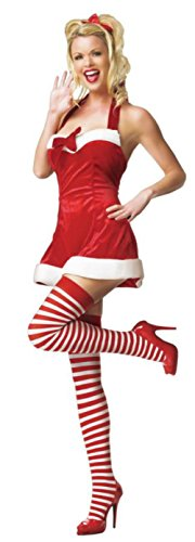 Leg Avenue Womens Santas Little Helper Christmas Outfit Fancy Dress Sexy Costume, M/L (8-14)
