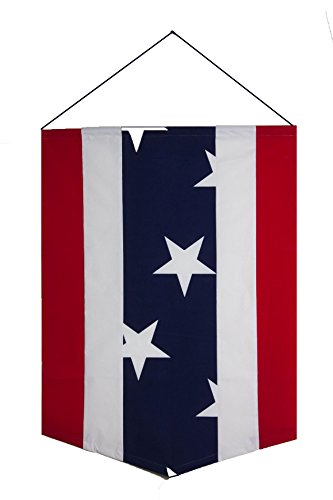 Americana Patriotic Red White & Blue USA Vertical Door Banner Flag - 28