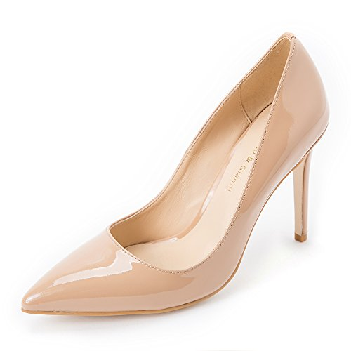 Femme Sandales Darco Compensées Gianni Leather Nude Patent 4Hq61