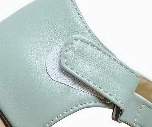 Unie Couleur Velcro Cuir Pu Agoolar Femme w16Aqx8X