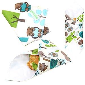 Wegreeco Reusable Sandwich Wrap, (Set of 3) - Owl
