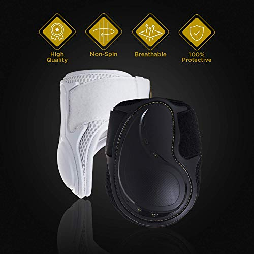 Kavallerie Classic Fetlock Boots, Impact-Absorbing and Air-Perforated Material, Durable & Evenly Distributes Pressure, Fetlock Injury Protection, Non- Slip with Soft Lining Show Jumping Boots by Kavallerie (Image #1)