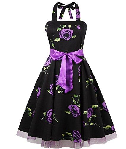 Relipop Sleeveless Vintage Backless Dresses