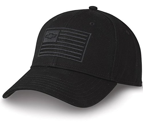 West Coast Corvette / Camaro Chevy Bowtie USA Flag Ghost Hat - Black