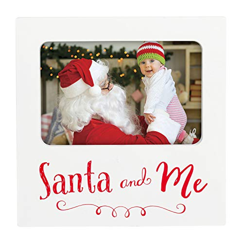 Tiny Ideas Holiday Santa and Me Keepsake Photo Frame, Perfect Christmas Seasonal ()