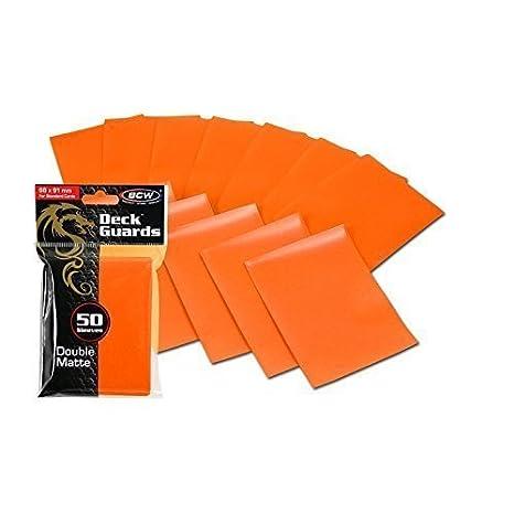 d01d110ef490 Amazon.com: 600 Orange Double Matte Deck Guard Card Sleeves - Ultra ...