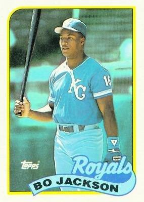 1989 Topps 540 Bo Jackson Kansas City Royals Baseball Cards
