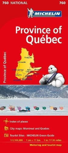 Quebec - Michelin National Map 0760 (Michelin National Maps)
