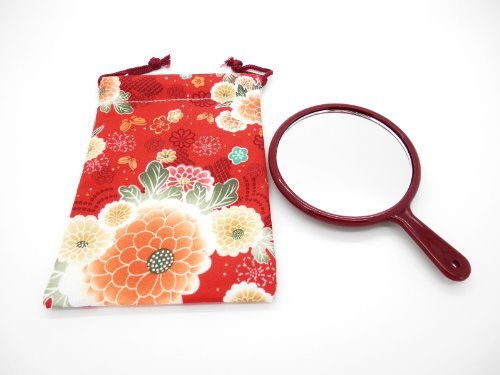 Traditional Japanese Pattern Pouch Bag and a Hand -