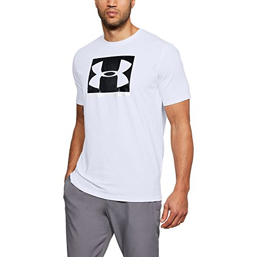 Under Armour Men's Boxed Sportstyle T-Shirt (Large, White/Metallic ()