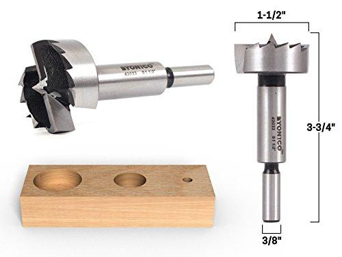 Yonico 43023S 1-1/2-Inch Diameter Steel Forstner Drill Bit 3/8-Inch Shank