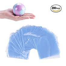 200 Pcs Shrink Wrap Bags Heat Seal PVC Film For Bath Bombs Handmade Soaps Making and DIY Small Crafts,Shrinks Using A Blow Dryer Or Heat Gun 18x28cm