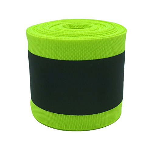 Eroilor Fabric Reflective Safety Tape Vest Trim Strip Sew on - 16.5 ft (5 Meter) - Larger Reflective Area - Green