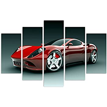 this item qicai 5 panels sport car canvas framed wall art wall canvas art wall paintings for home decor car pictures printed on canvas stretched ready to